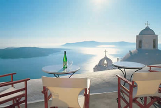 A typical view from Santorini